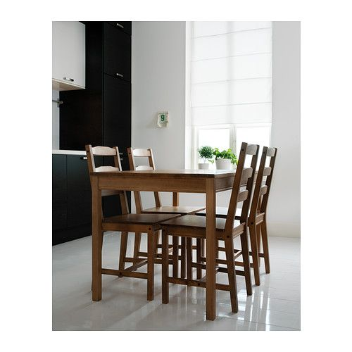 Jokkmokk Table And 4 Chairs Antique Stain Wood Dining Table