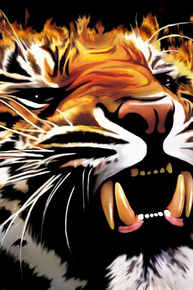 Pvnsp15 S Image Tiger Painting Tiger Face Tiger Art