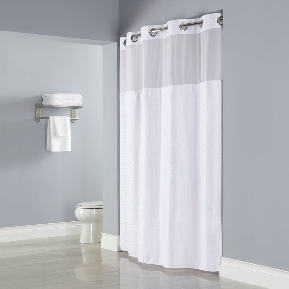 Shower Curtain Liner With Magnets