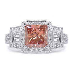 2.34 Karat Pink Diamant Ring aus 750er Weißgold. Ein Diamantring aus der Kollektion Pink von www.pearlgem.de