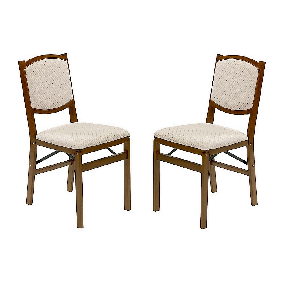 Stakmore Contemporary Wood Folding Chairs In Fruitwood Set Of 2