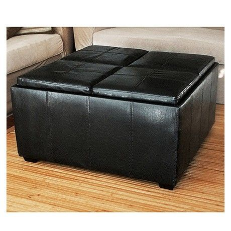Storage Ottoman With Tray Tops Assorted Colors At 55 Savings