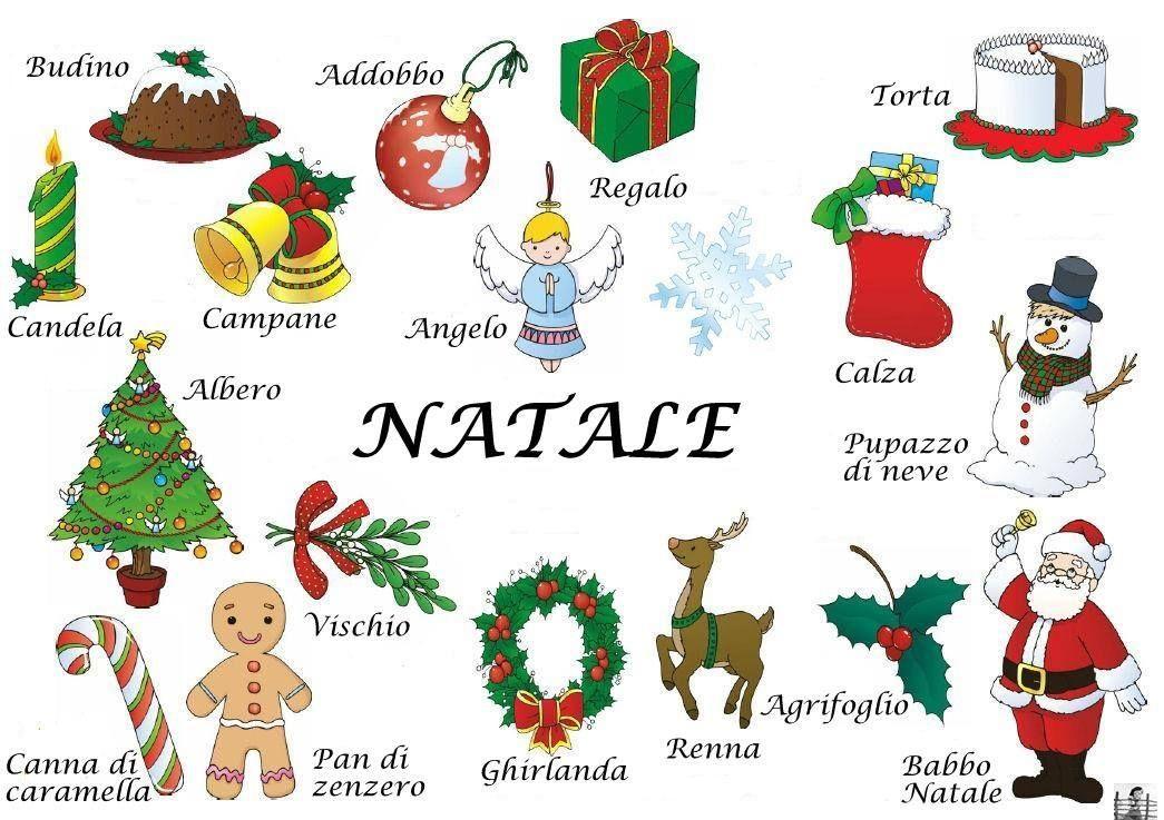 Decorazioni Natalizie In Inglese.Vocabolario Natalizio Ii Poster Natale Parole Di Natale Schede Natale
