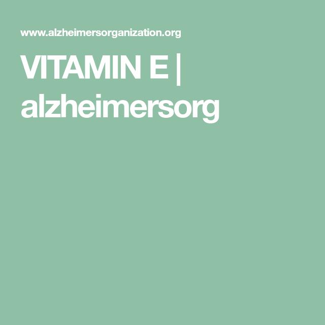 Vitamin Supplements Alzheimers Disease