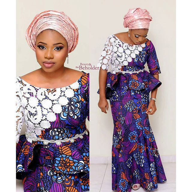 Ankara Mixed With Lace Dresses Ankara Styles African Fashion