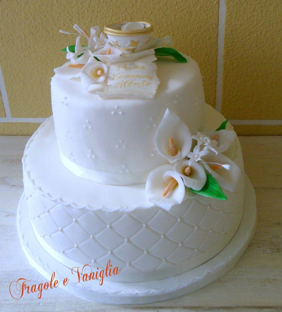 Conosciuto Torta Prima Comunione con calice | Communion, Communion cakes and  IX84
