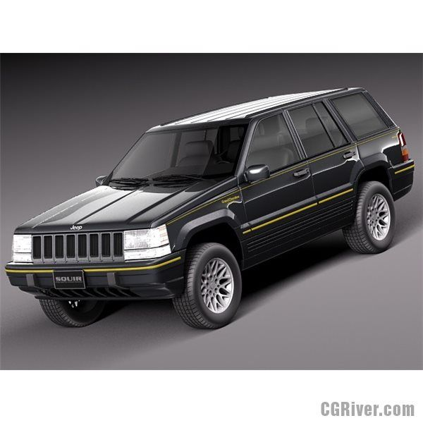 Jeep Grand Cherokee Limited 1993 1998 3d Model Jeep Grand