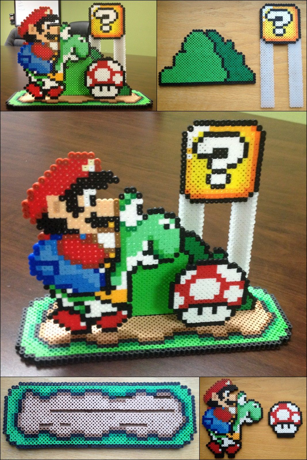 Mario Perler Bead Patterns 3d Perler Bead Mario Perler