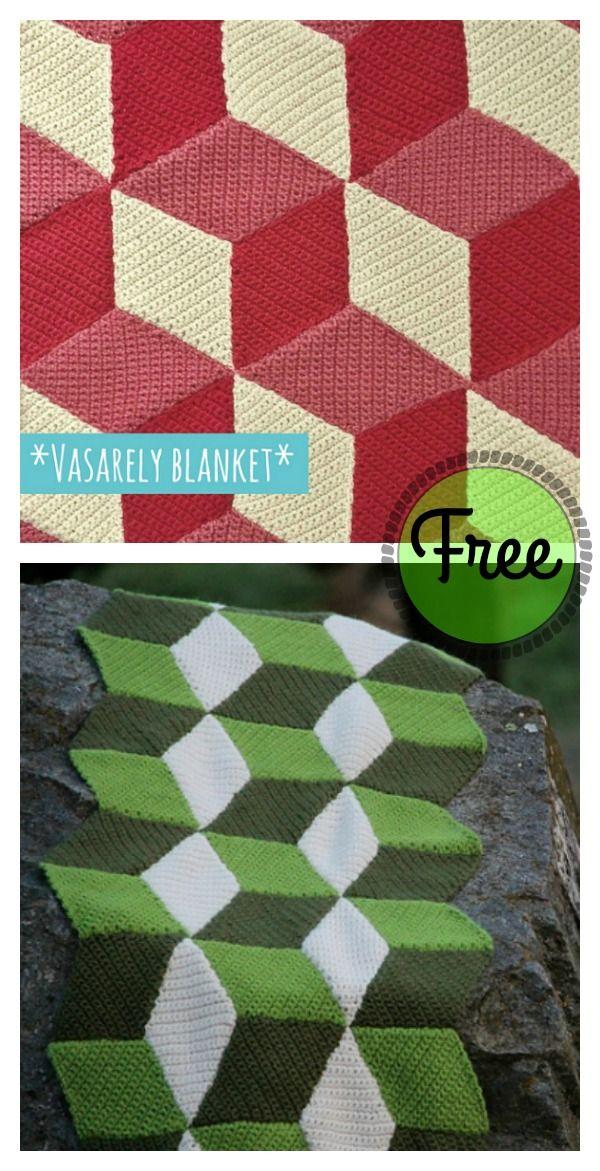 Free 3D Illusion Blanket Crochet Patterns | Nietos