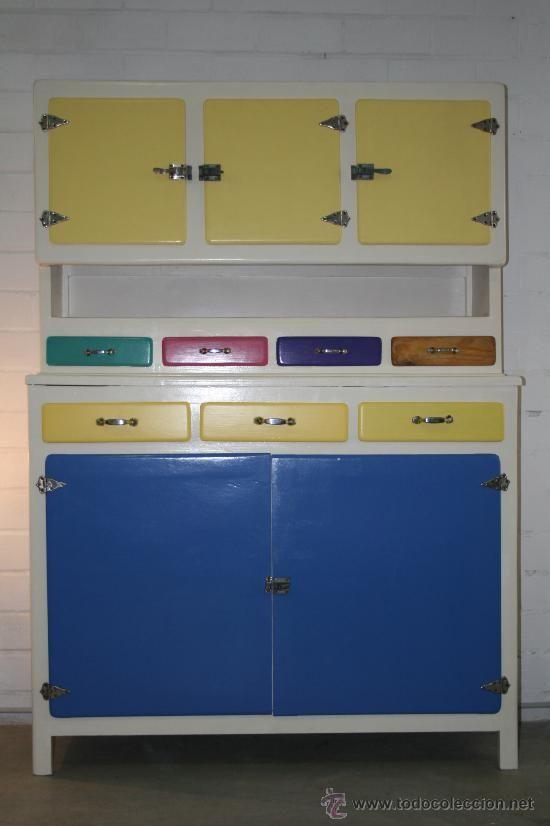 Kitchenette vintage! alacena de cocina de los 50 restaurada ...