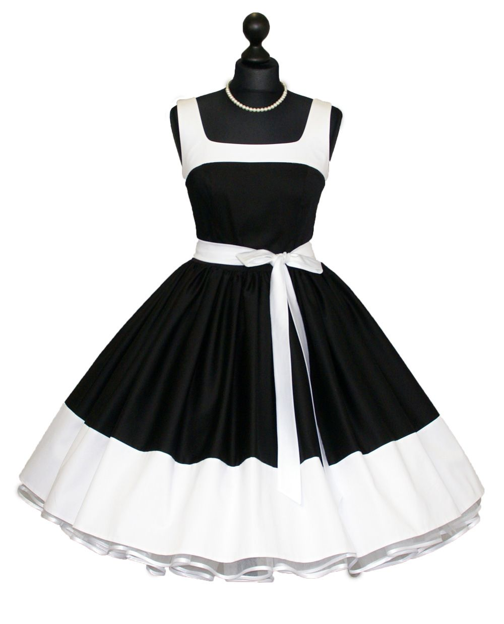 petticoat dress black - white- would wear this in a heart beat