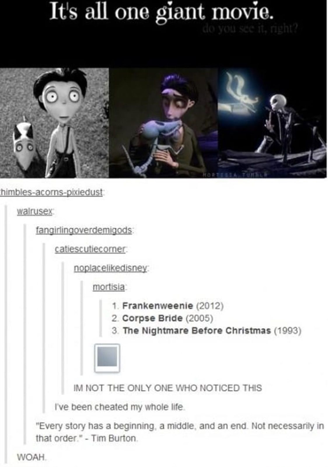 Cute Theory But Frankenweenie Is Still My Least Favorite Movies Tim Burton Funny Pictures