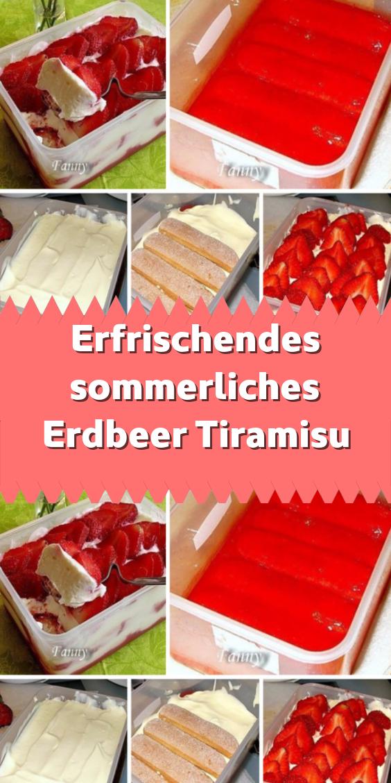 Erfrischendes sommerliches Erdbeer Tiramisu #löffelbiskuitrezept