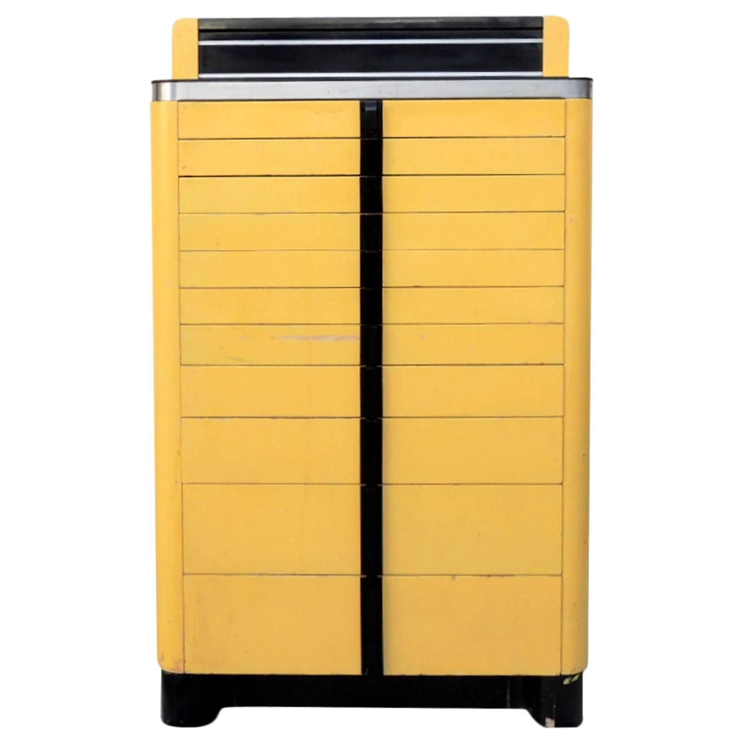 High Quality Art Deco Industrial Dental Cabinet