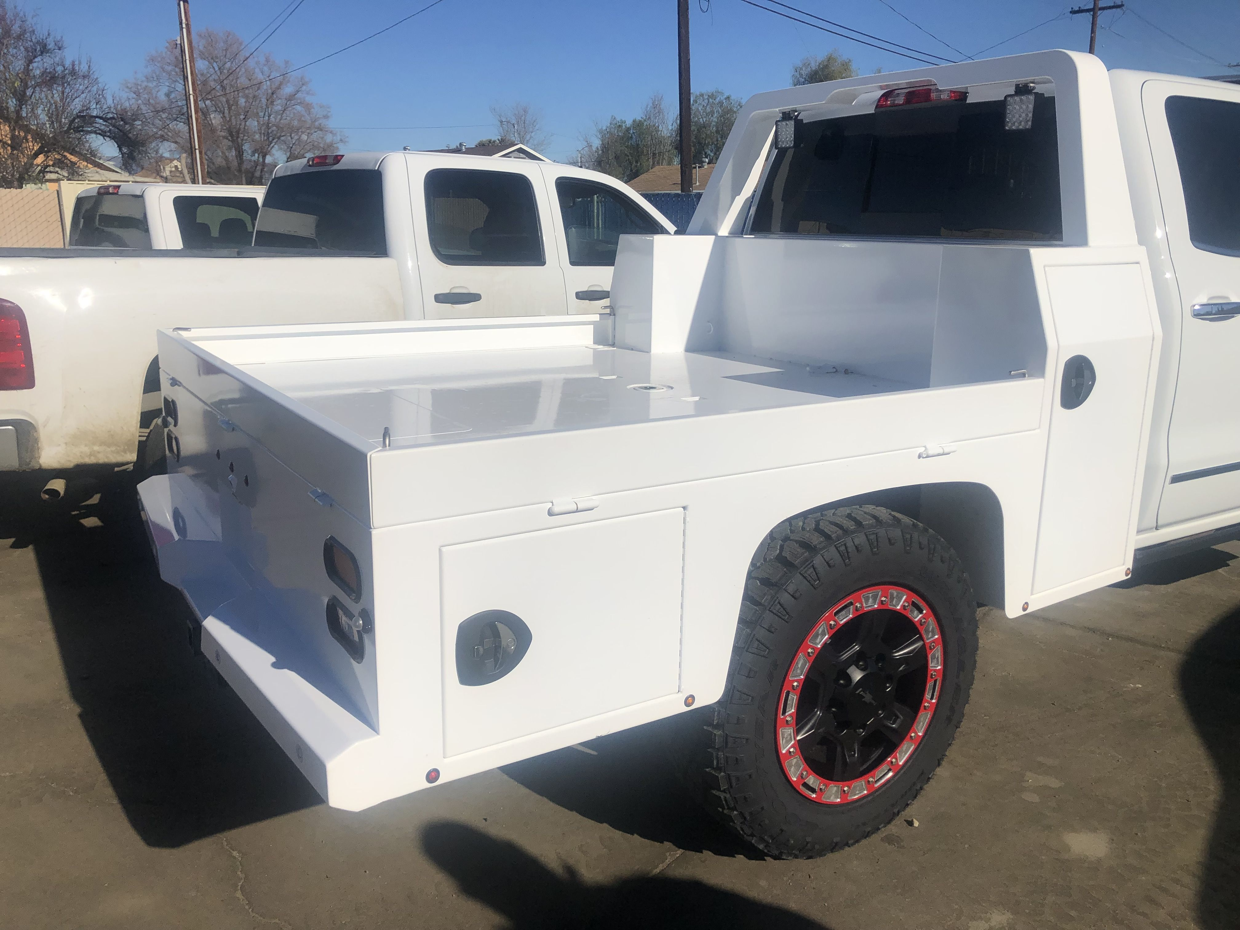 powder coat white Building a house, Flat bed, Home