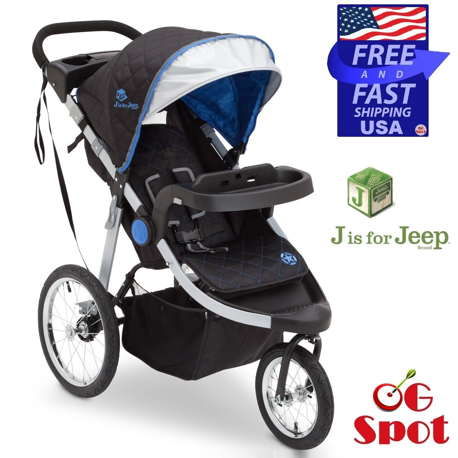 Jeep Baby Jogging Running Stroller 3 Wheel Cross Country