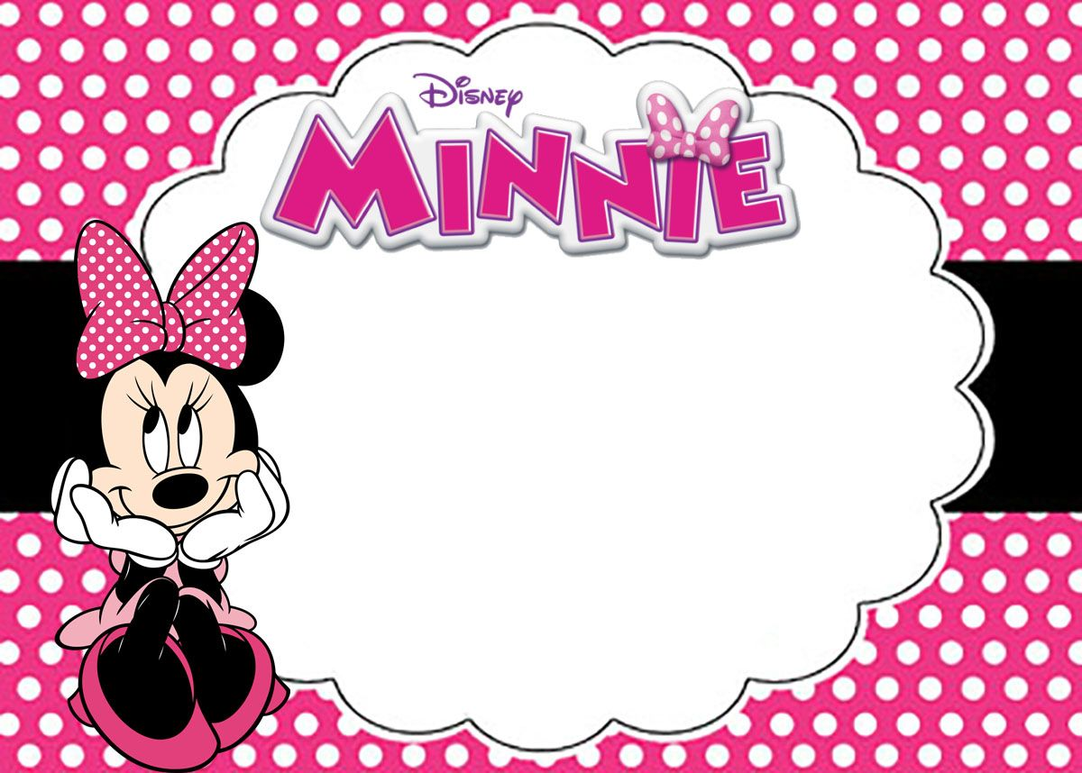 Free Printable Minnie Mouse Birthday Party Invitation Card Coolest