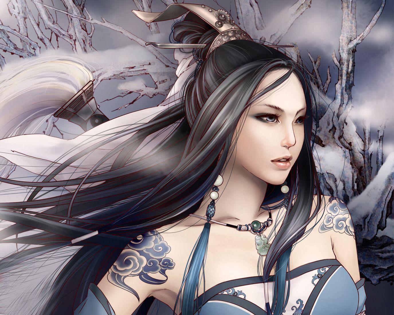 Anime Chinese Warrior Full Hd Anime Beauty Girl Warrior Wallpaper