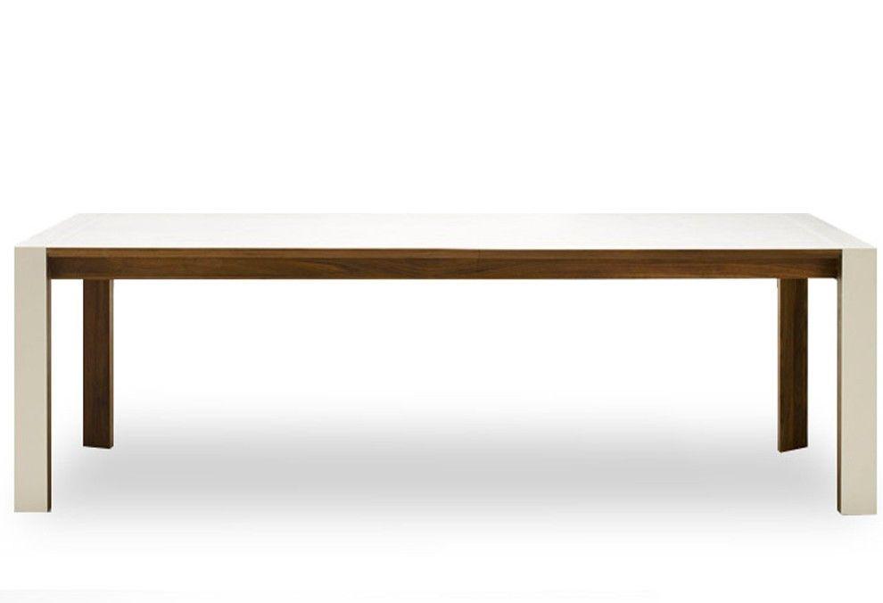 Table de repas Pure, 6 à 10 P bois massif et corian Pieds Corian - meuble en fer design