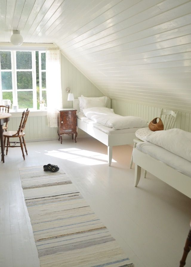 Scandinavian Country Style Home Attic Renovation Attic Rooms