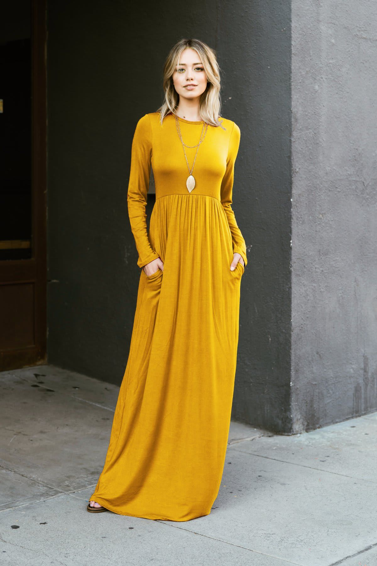 Long Sleeve Maxi Dress [ 1800 x 1200 Pixel ]