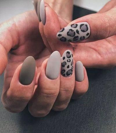 installation of acrylic or gel nails in 2020  leopard