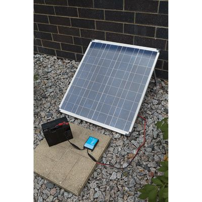 Npower Crystalline Solar Panel Kit With Stand Charge Controller And Inverter 80 Watts 12 Volt Crystalline Solar P Solar Panel Kits Solar Roof Solar Panel
