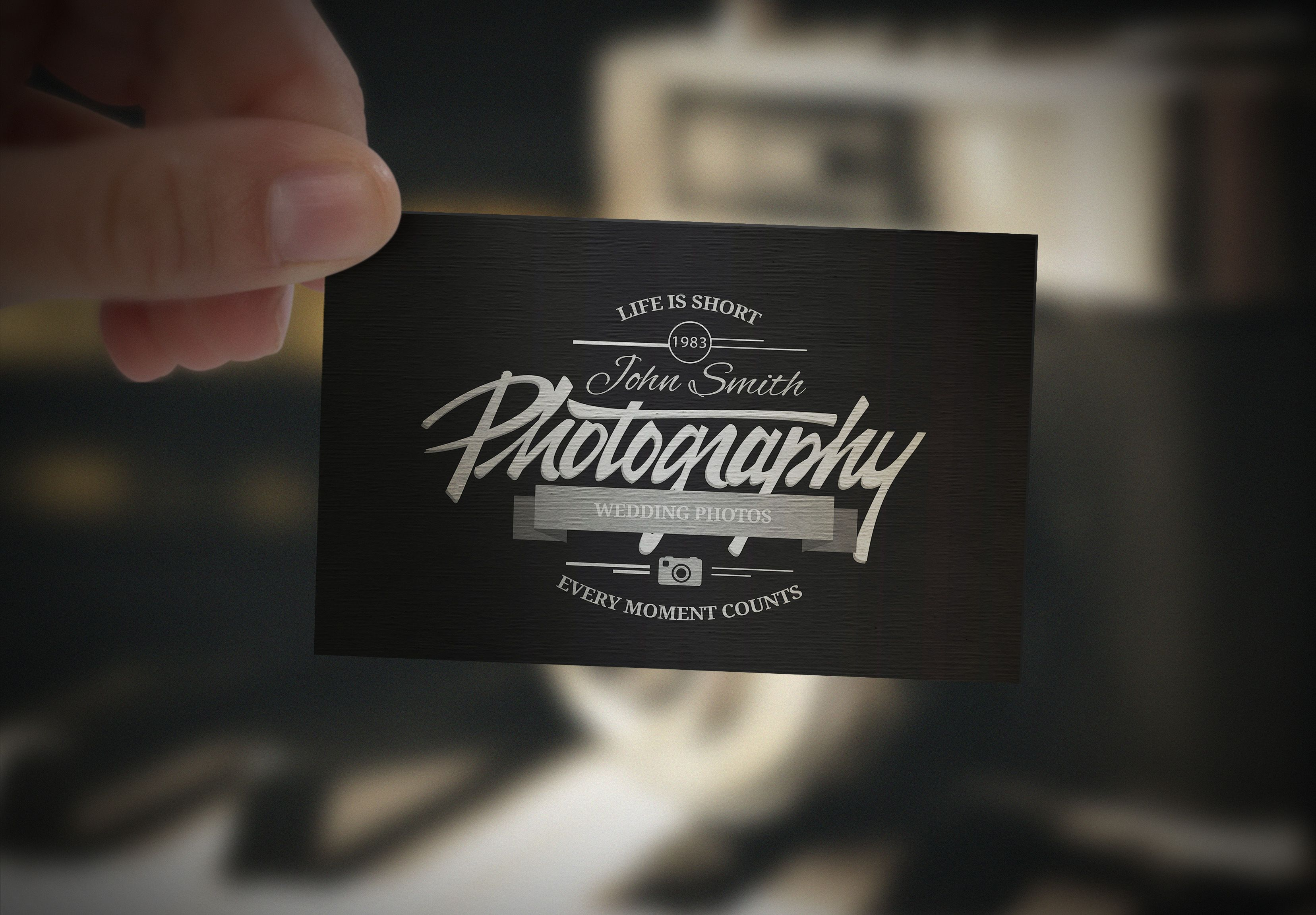 This Is Business Card Mockup In Retro Style Psd Which Designed By Freepik