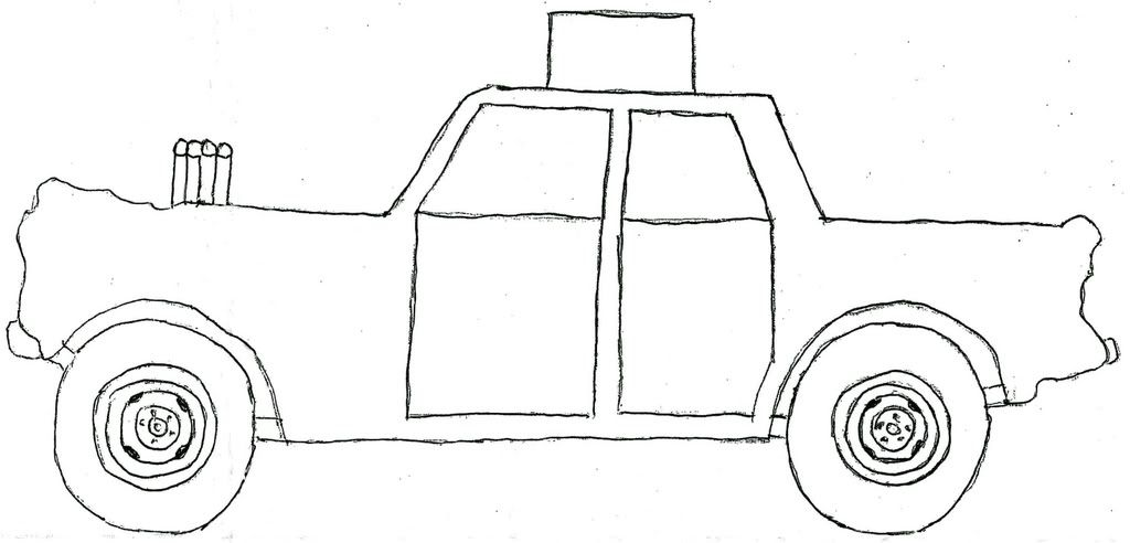 Demolition Derby Car Coloring Pages Projects to Try Pinterest - printable car template
