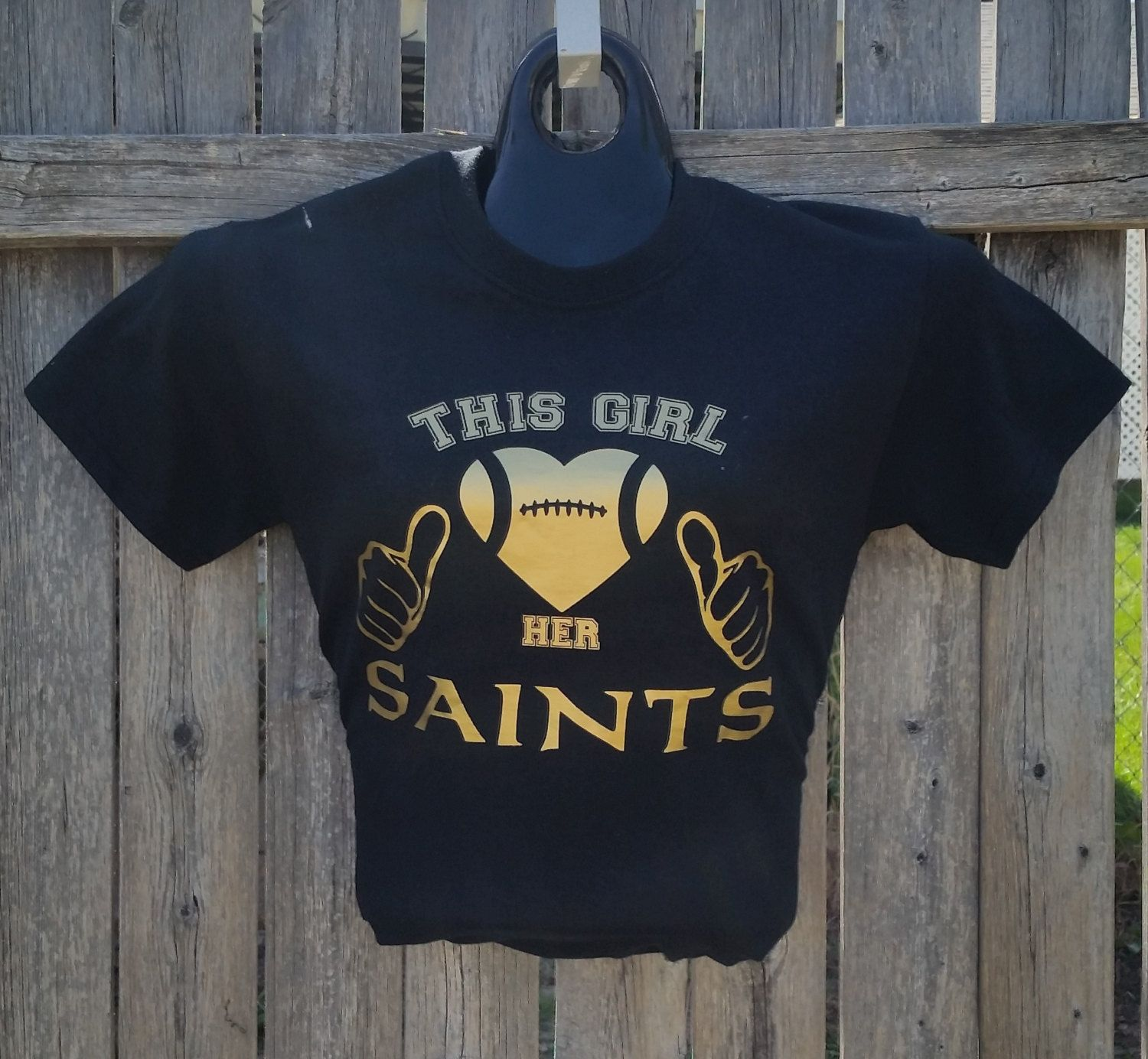 This Girl Loved Her Saints Two Thumbs This Guy Football Heart T