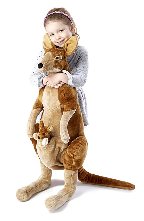 Melissa & Doug Giant Kangaroo and Baby Joey in