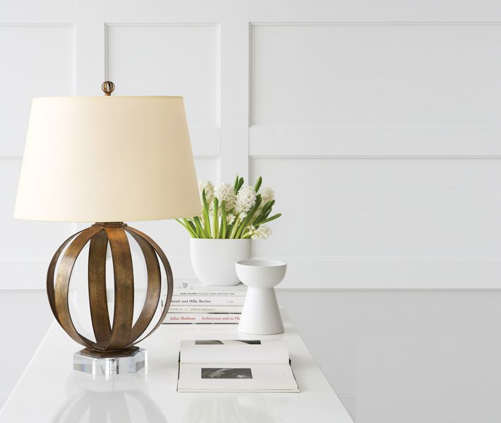 Superb Metal Banded Table Lamp By Sandy Chapman: CHA8530