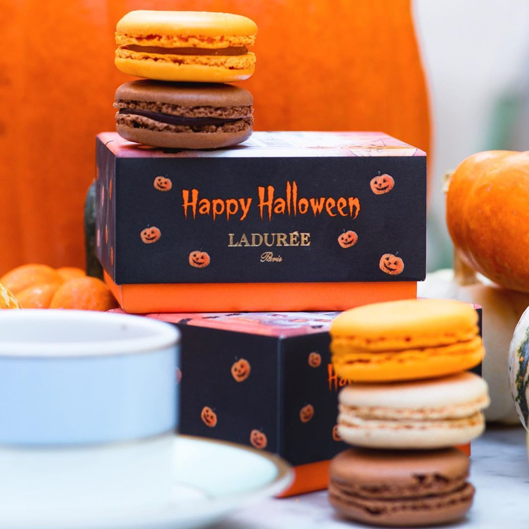 """Official Maison Ladurée US on Instagram: """"At Ladurée, Halloween starts today! We have four special treats up: a Gift Box of 6 Macarons, a Halloween Macaron or Printed Macarons and…"""" #halloweenmacarons"""