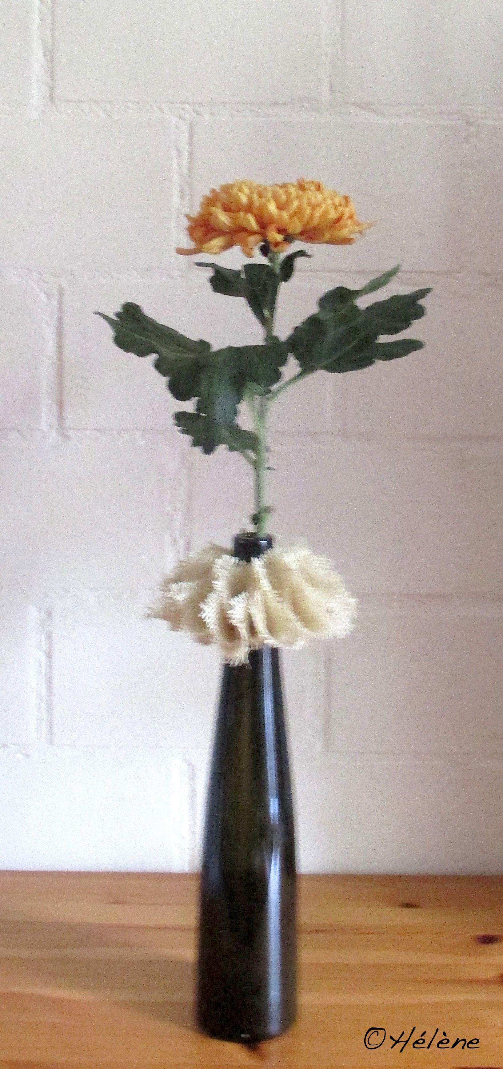 Chrysantheme + Jutekranz