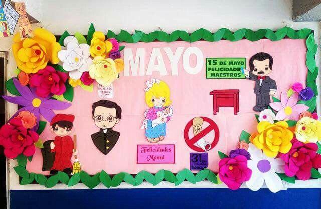 Periodico Mural Mayo Esmeralda Manualidades School Murals
