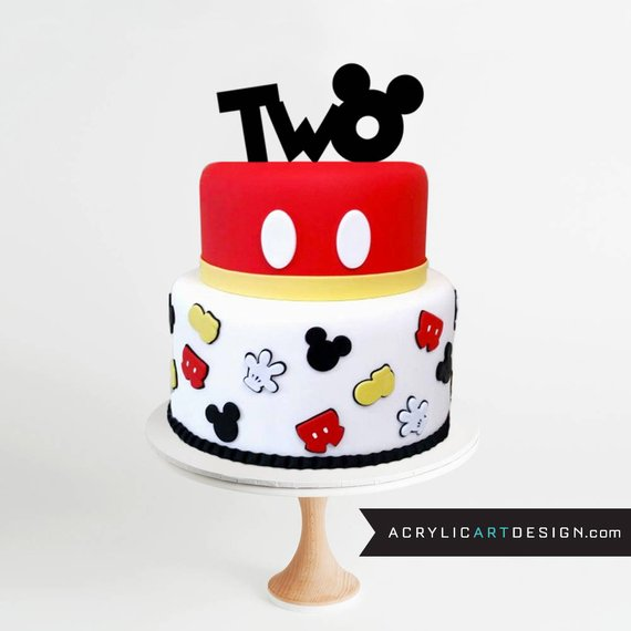 Mickey Mouse Inspired Cake Topper ::: PURCHASE INCLUDES