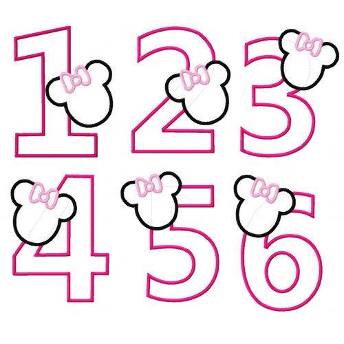 numbers #minniemouse