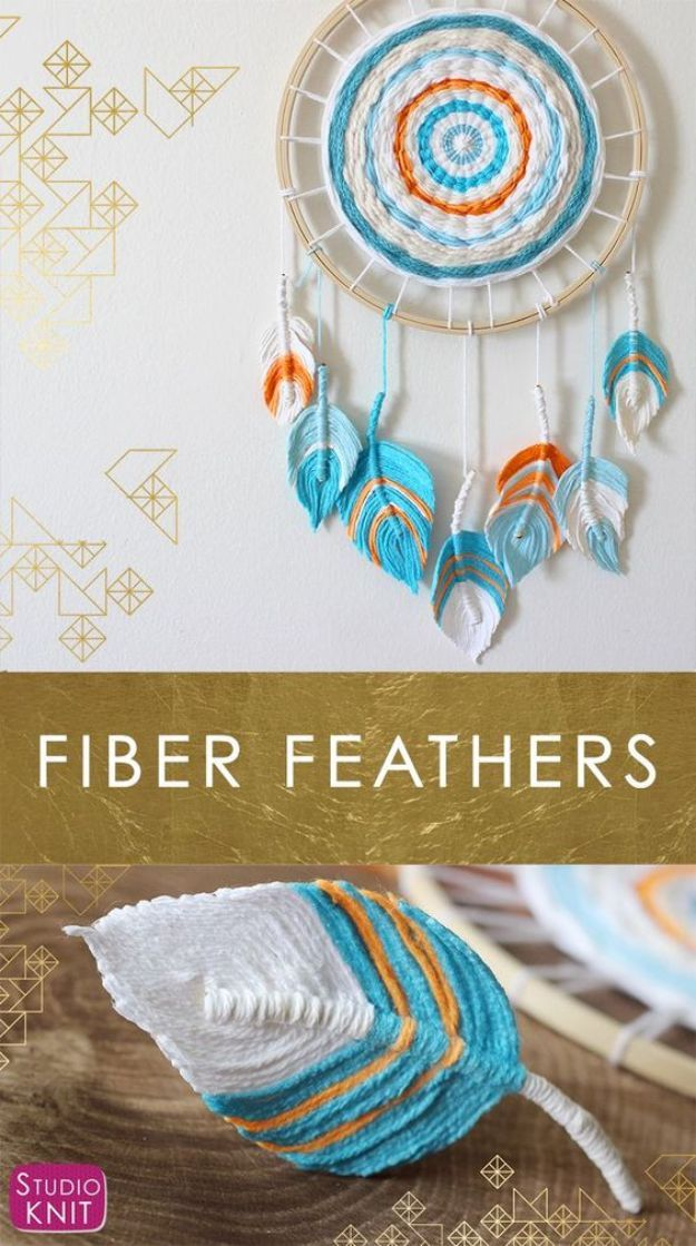 Learn how to make Fiber Feathers with images