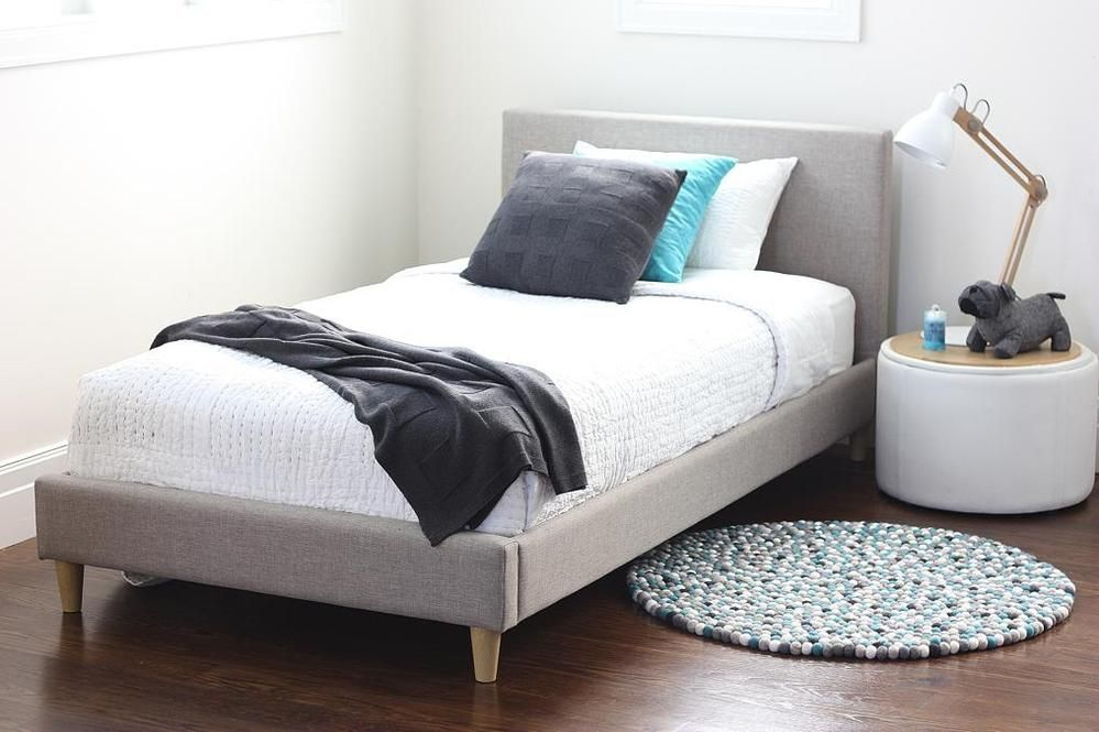 Frankie Single Taupe Upholstered Bed | King single bed, Luxury