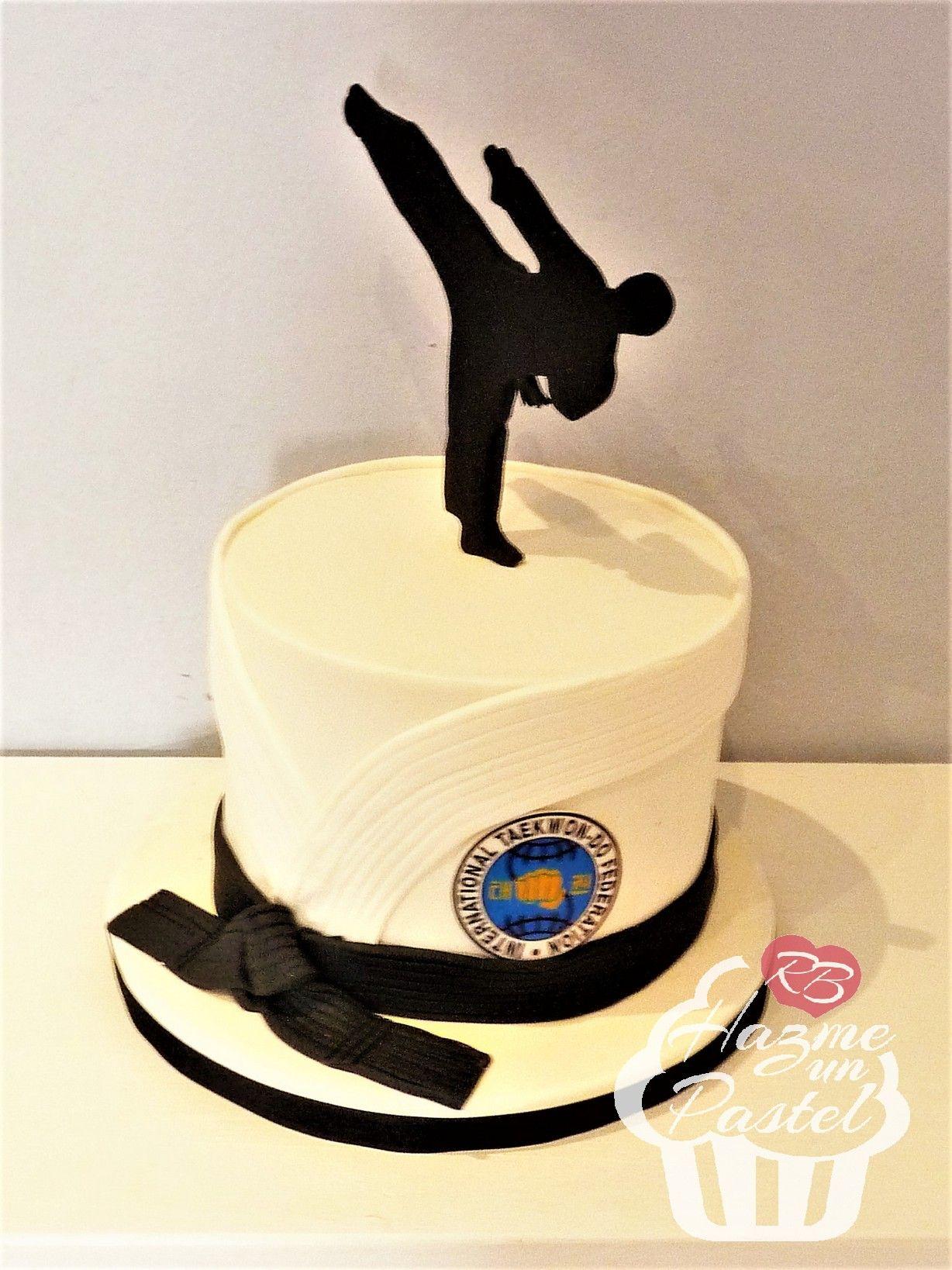 Taekwondo cake   sport   Pinterest   Cake, Cake designs and Boy cakes