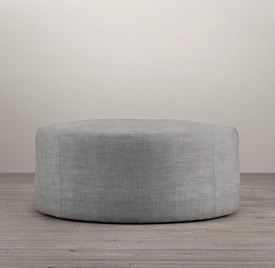 36 Cooper Upholstered Round Ottoman Round Ottoman Ottoman Modern Round