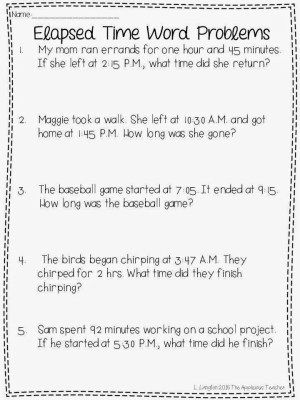 elapsed time activities and a free download applicious 3rd grade 3rd grade math math. Black Bedroom Furniture Sets. Home Design Ideas
