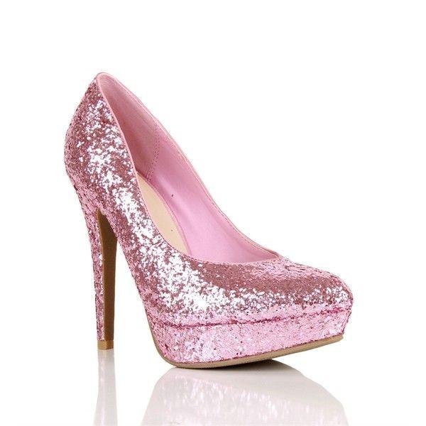0002f49c9c64 Light Pink Glitter Pumps ( 12) found on Polyvore