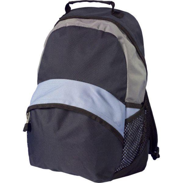 b138b64ddd Τσάντα από πολυεστέρα (600D) που περιλαμβάνει μία πρόσθετη μπροστινή τσέπη  με φερμουάρ και δύο