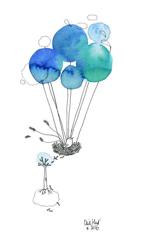 Inktober 19 Les Chosettes Illustration D Aquarelle Tache