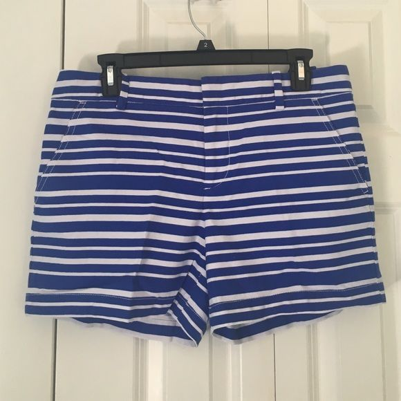 Tommy Hilfiger Blue Striped Shorts Never worn! Size 6 in perfect condition. Tommy Hilfiger Shorts