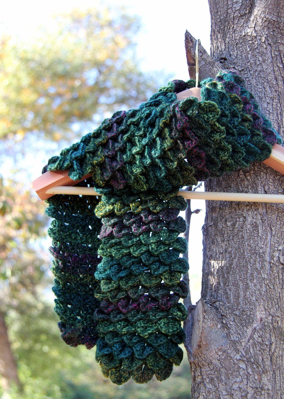 Green Dragon Scale Scarf. | just do it | Pinterest | Handarbeiten