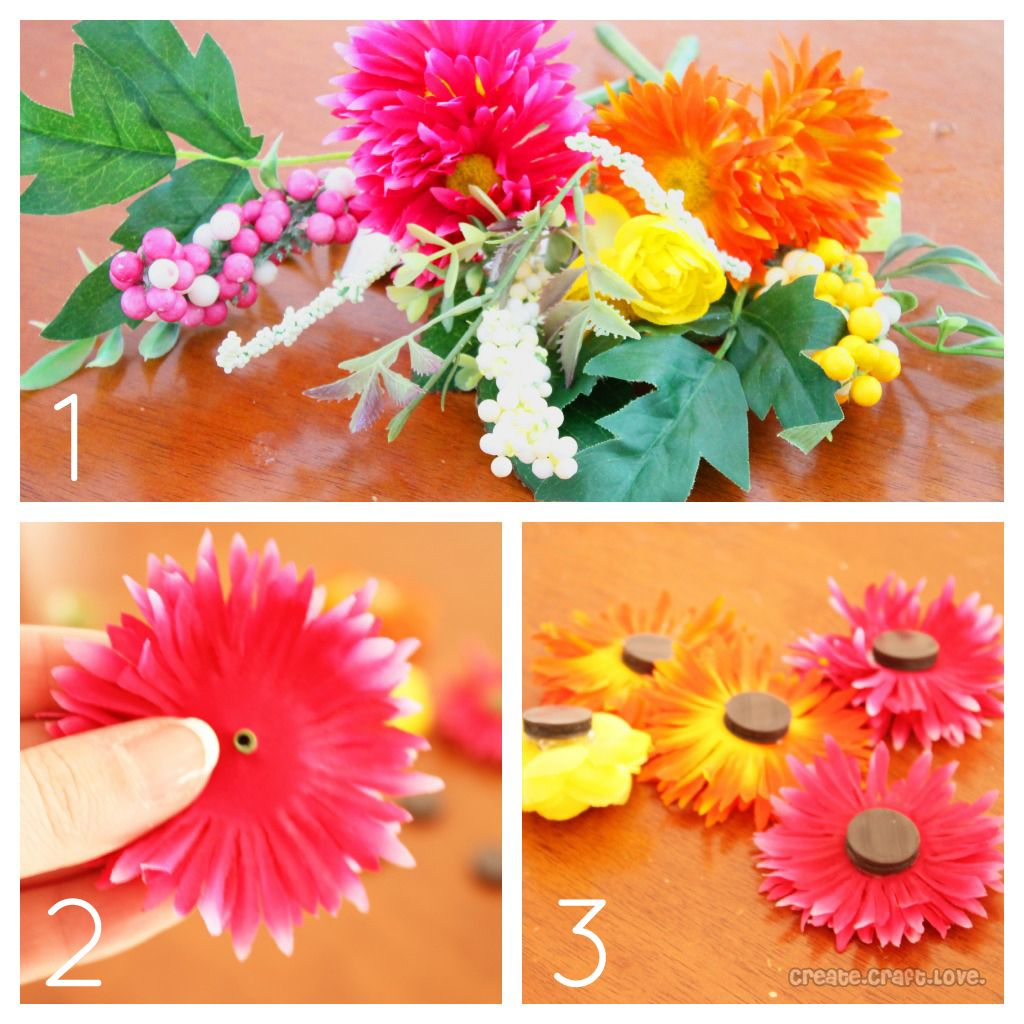 Easy spring crafts for seniors - Silk Flower Magnets To Update Your Space For Spring Via Createcraftlove Com Magnets Senior Activitiesflower Craftsart Centersspring Craftseasy