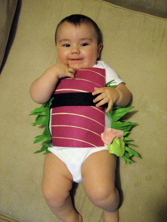 Baby Costume, Baby Halloween Costume, Sushi Costume, Shrimp Sushi