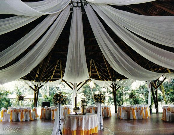 arreglos para salon de boda con telas 15 deco Pinterest Tumi